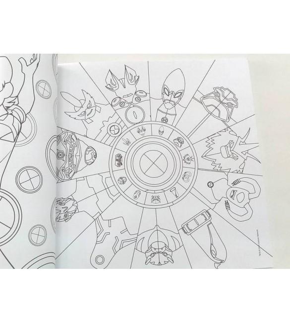 Livro Para Colorir Ben 10 Omniverse Alienegenas