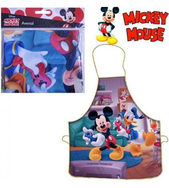 Avental Escolar Mickey Mouse - Gedex - 01 unidade