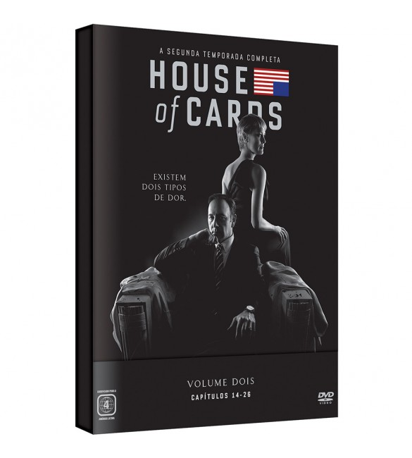DVD -Box - House of Cards - 2ª Temporada Completa (4 discos)