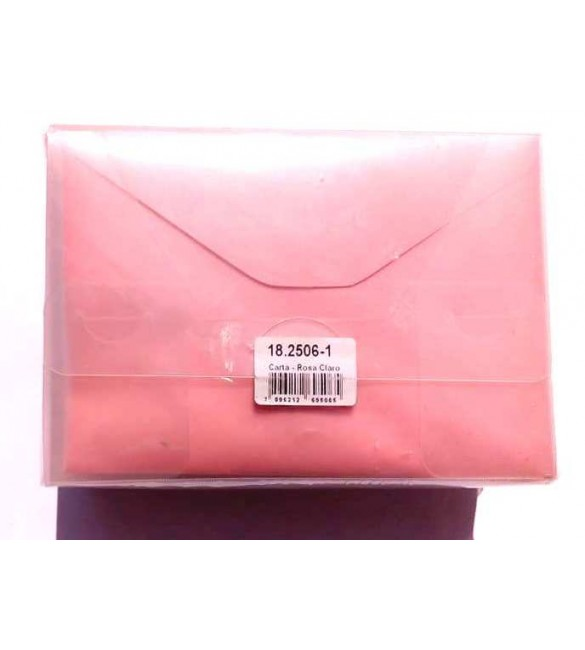 Envelope Carta Colorido 114x162mm Rosa Claro 80g Cx.C/100 - Foroni