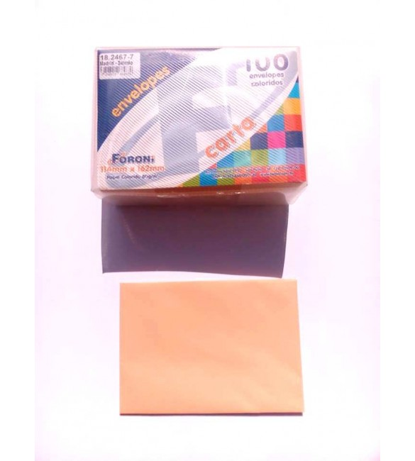 Envelope Carta Colorido 114x162mm Madrid-Salmao 80g Cx.C/100 - Foroni