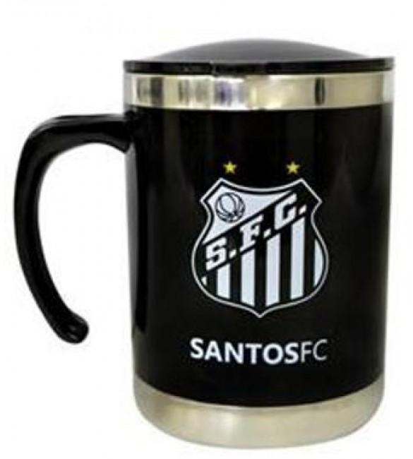 Caneca Térmica com Tampa Santos FC 350 ML.- Produto Oficial 728722ec116e3
