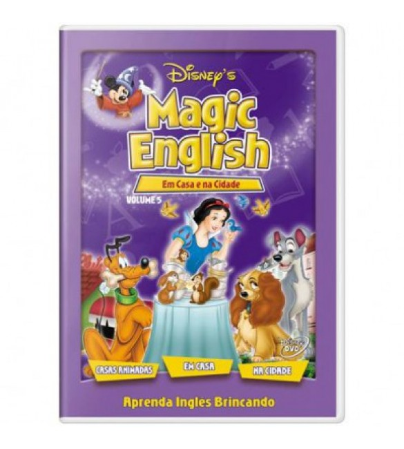 DVD Disney Magic English - Em Casa e Na Cidade - Vol. 5