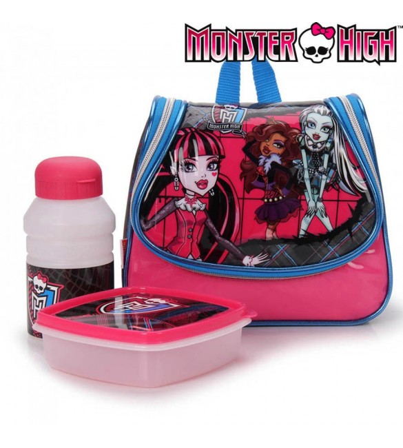 Lancheira Monster High Rosa/Cinza - Sestini