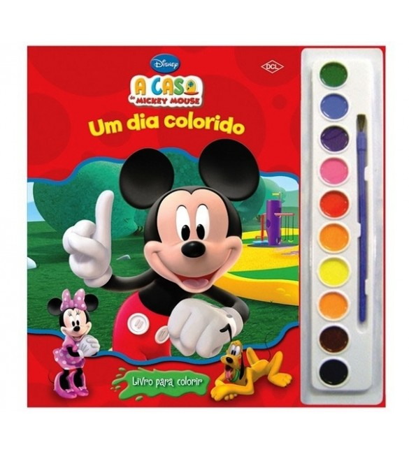 Livro A Casa do Mickey Mouse- Ler e Colorir com Aquarela