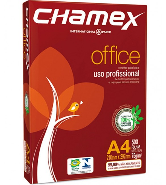 Papel Chamex Office A4 75g - 500 Folhas - Chamex