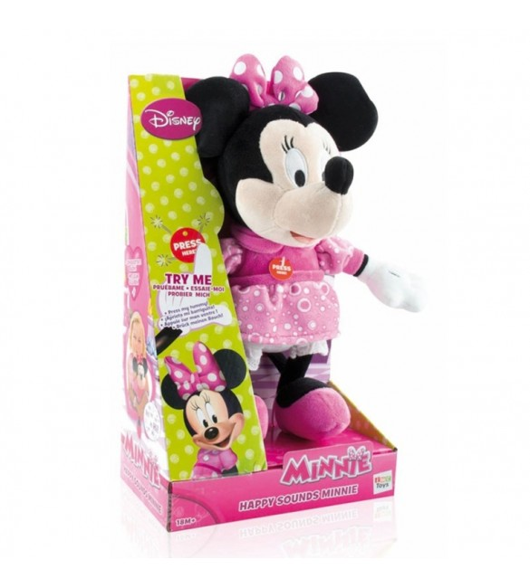 Pelúcia Disney Happy Sounds Minnie - Multikids
