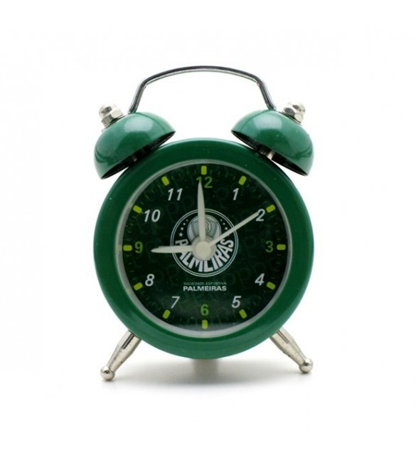 Relógio Despertador Mini de Metal Palmeiras 7 cm